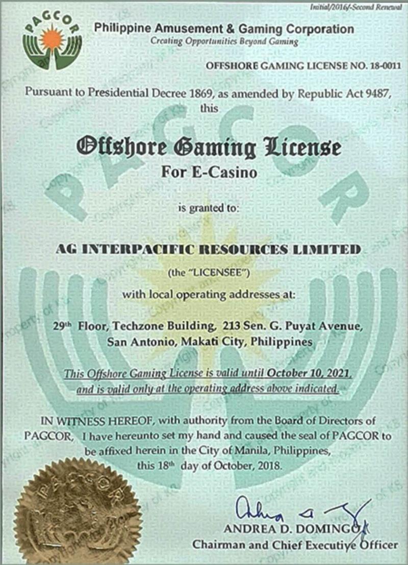 giấy phép hoạt động kinh doanh